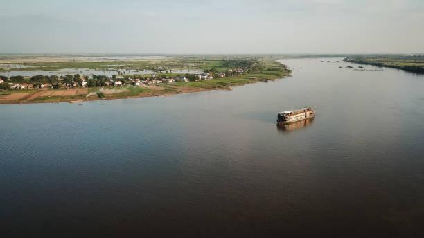 Mekong River Delta Boat stock photo