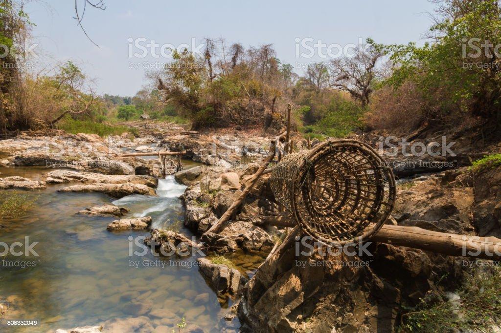 Mekong River in Laos stock photo