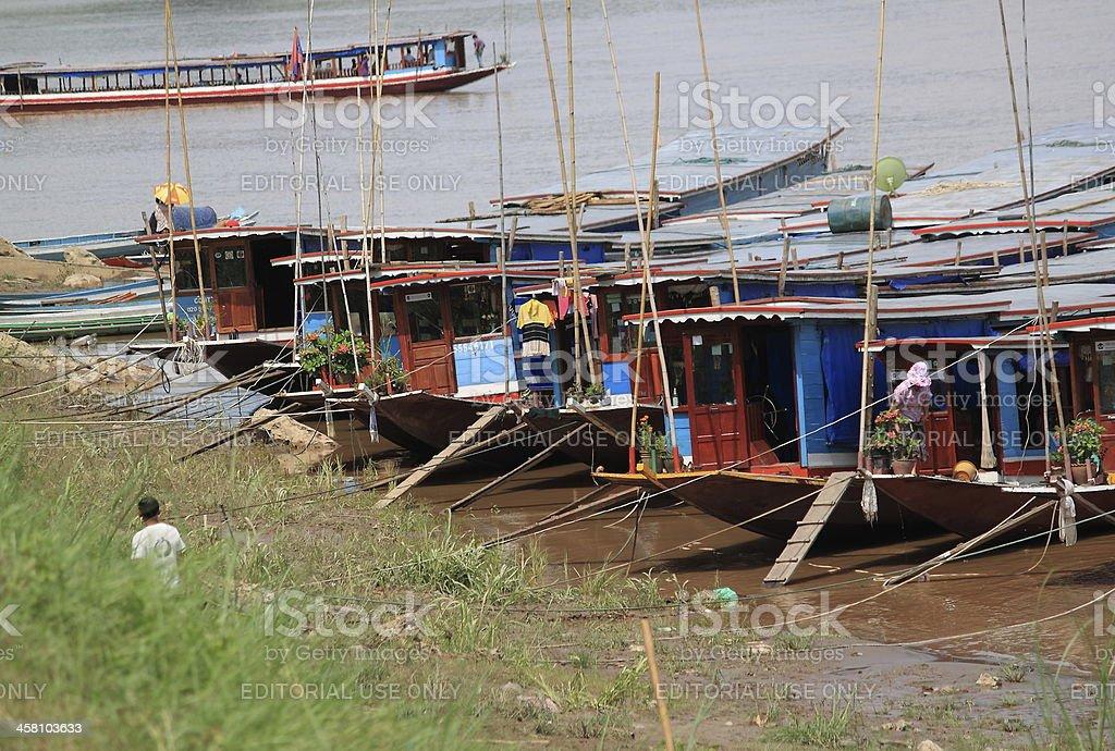 Mekong river in Luang Prabang Laos stock photo