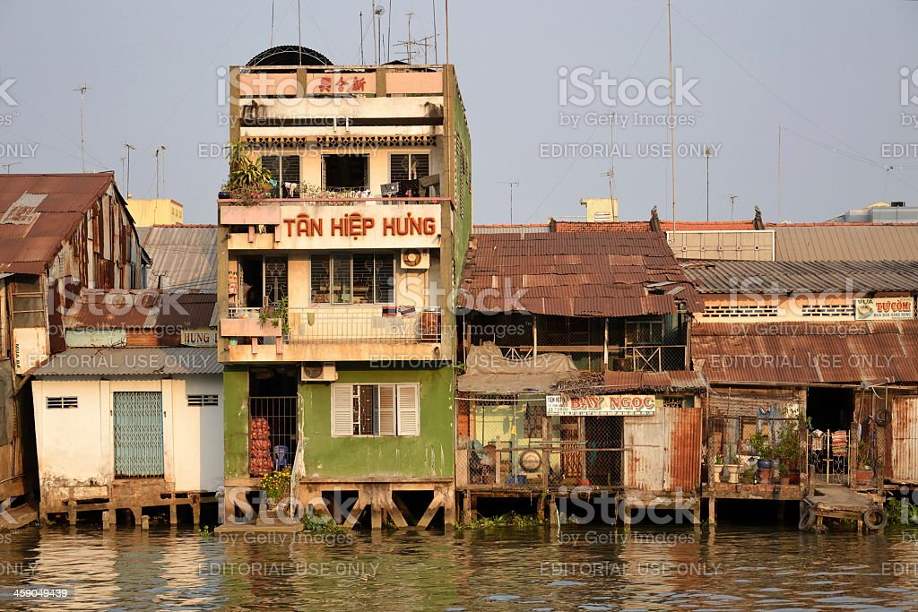 Mekong river in Vietnam royalty-free stock photo