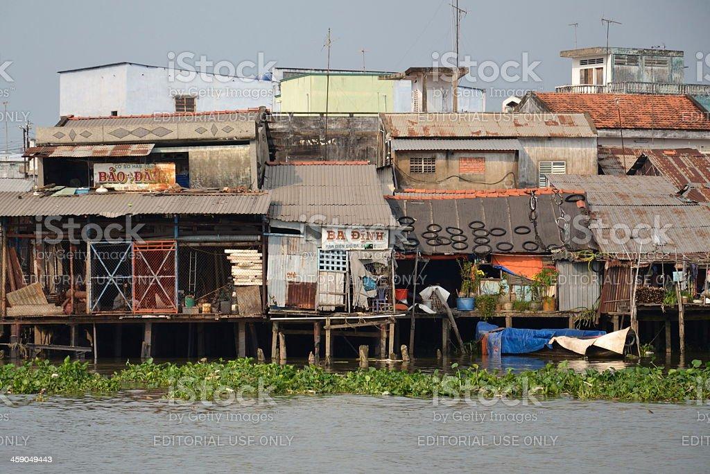 Mekong river in Vietnam royalty-free stock photo