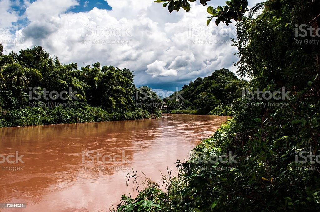 Mekong River, view from Luang Prabang stock photo