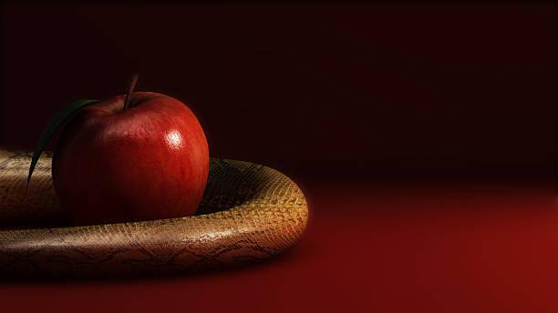 Mela e serpente Mela e serpente temptation stock pictures, royalty-free photos & images