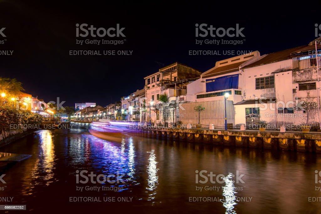 Melaka Malaysia October 6 2016 City River Running Through
