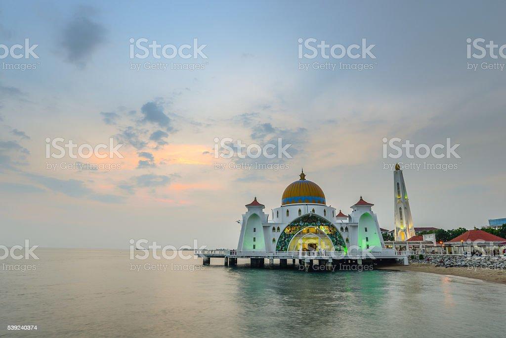 Melaka mosque royalty-free stock photo