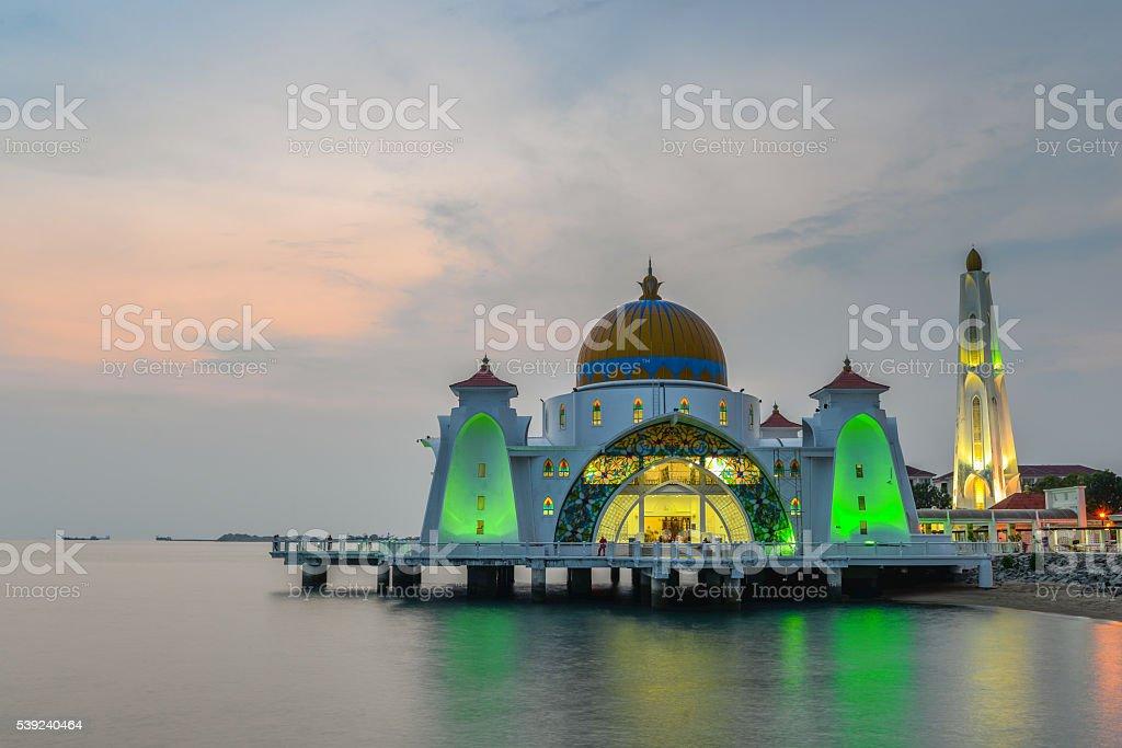 Melaka mezquita foto de stock libre de derechos