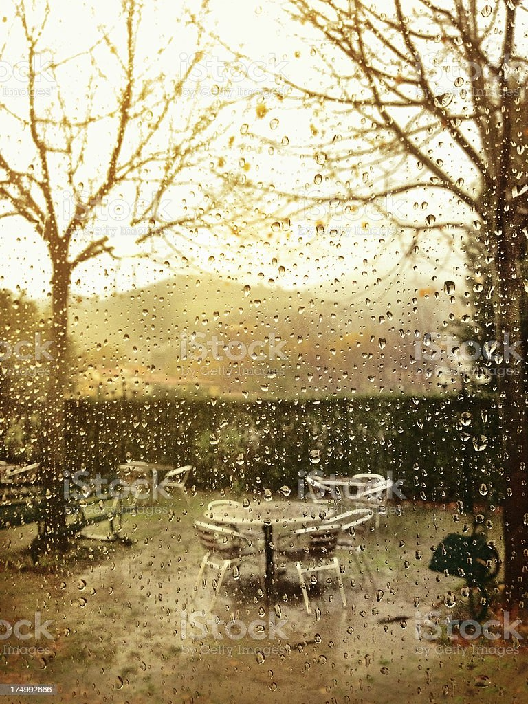 Melancholic rainy day royalty-free stock photo