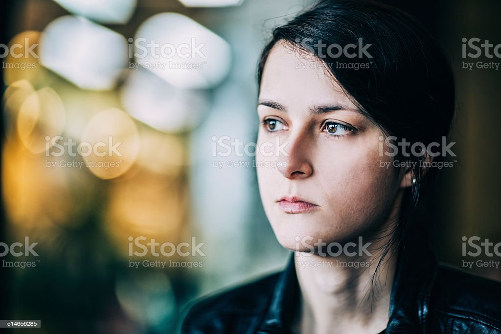 Melancholy mood stock photo