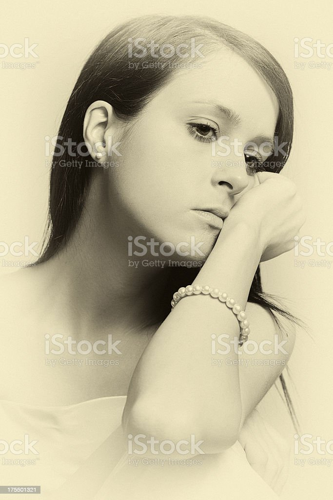 Melancholy stock photo