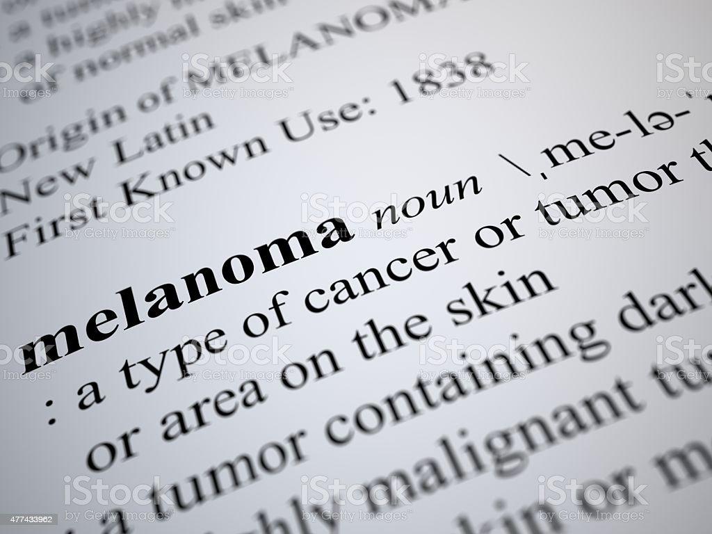 melanoma stock photo