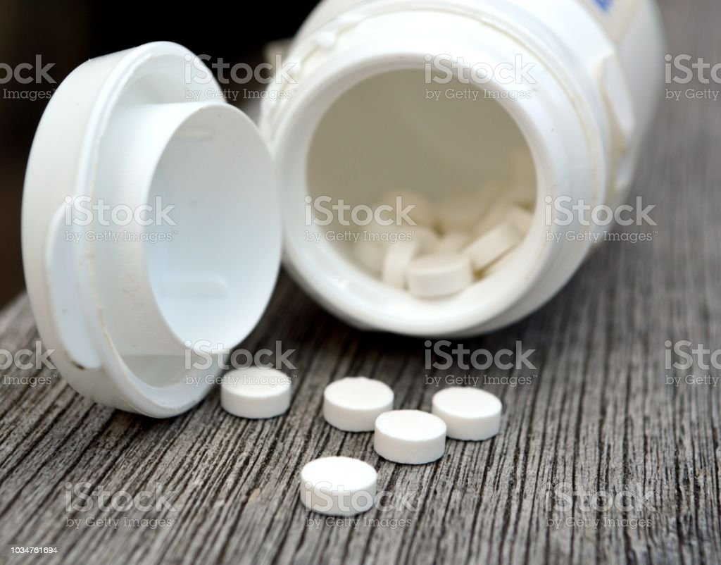 Melatonin hormone used for treatment of insomnia and jet lag stock photo