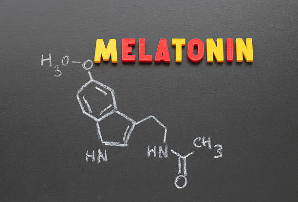 melatonin stock photo