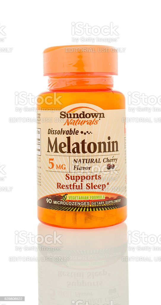 Melatonin stock photo
