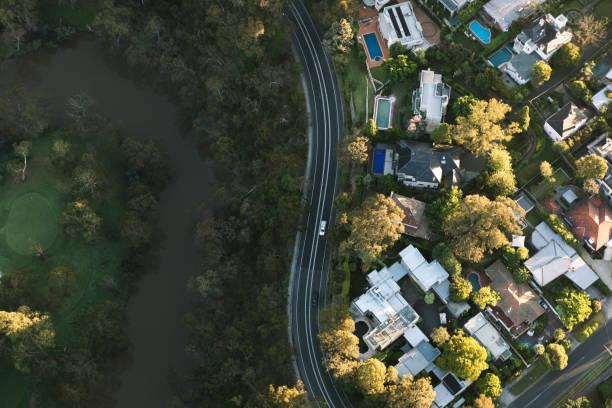 melbourne aerial photography - victoria australia foto e immagini stock