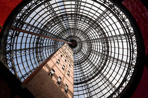 architecture de melbourne - cercle concentrique photos et images de collection