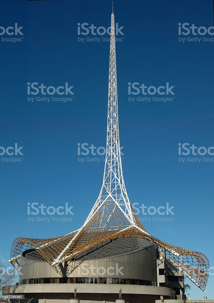 Melbourne arts centre royalty-free stock photo