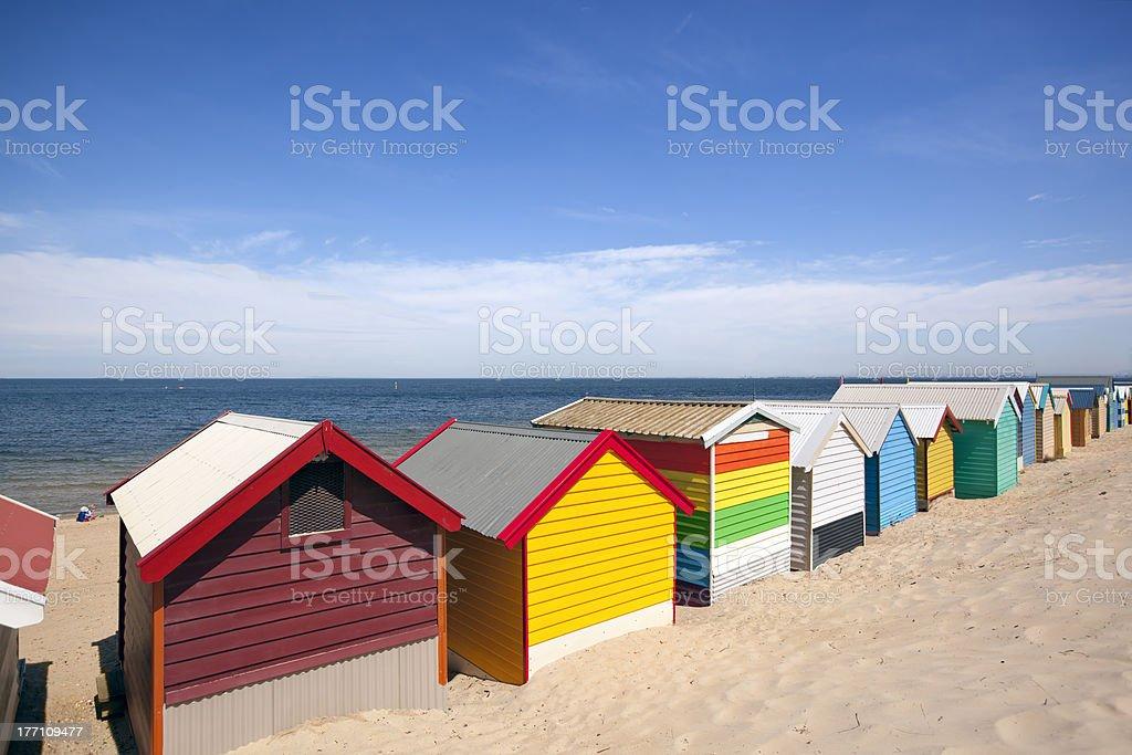 Melbourne Beach Boxes stock photo