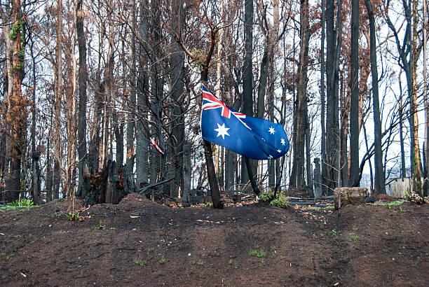 Melbourne bushfires australia 2009 Black Saturday stock photo