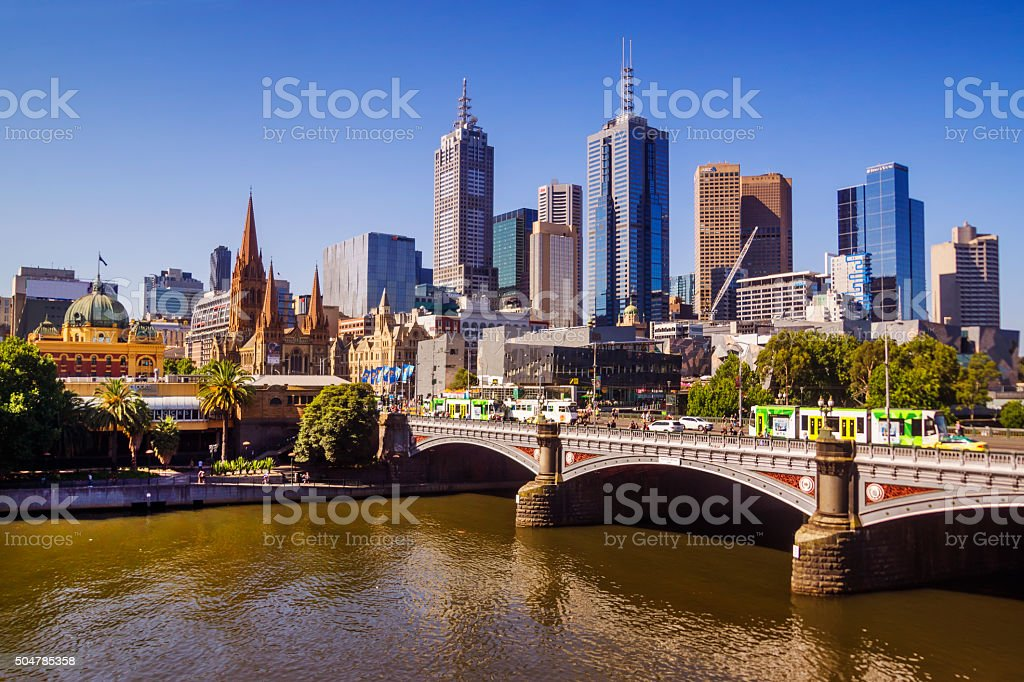 Melbourne by day stock photo