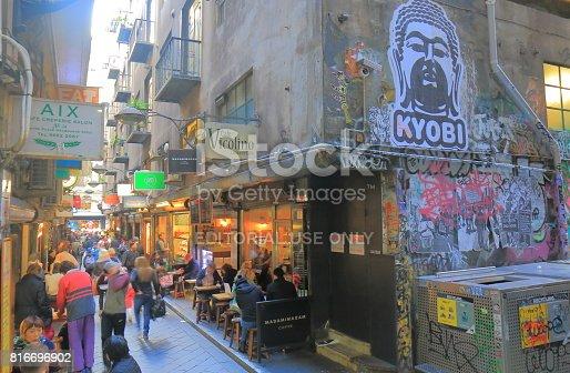 534781401 istock photo Melbourne cafe lane cityscape Australia 816696902