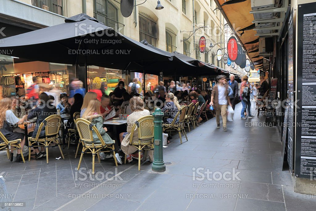 Melbourne cafe restaurant Australia stock photo