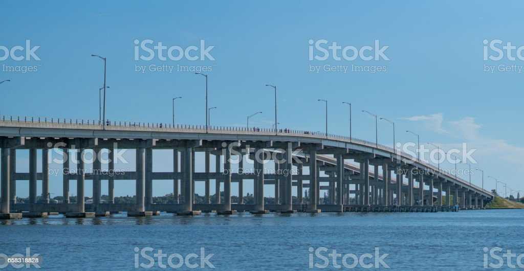 Melbourne Causeway Bridge stock photo