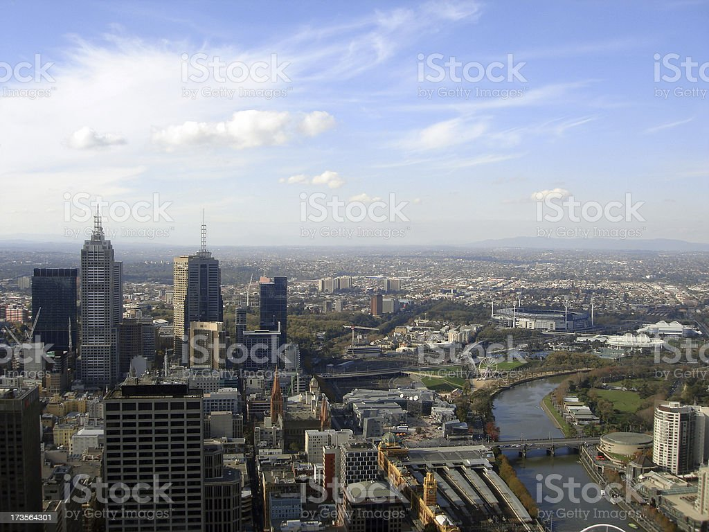 Melbourne CBD, Australia royalty-free stock photo