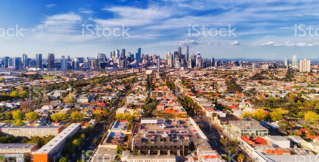 D Melbourne CBD From port royalty-free stock photo