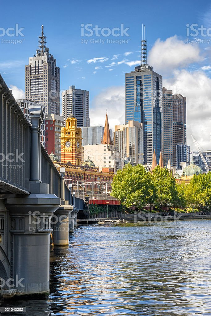 Melbourne CBD stock photo