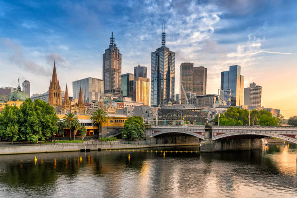 Melbourne central Business district - foto stock