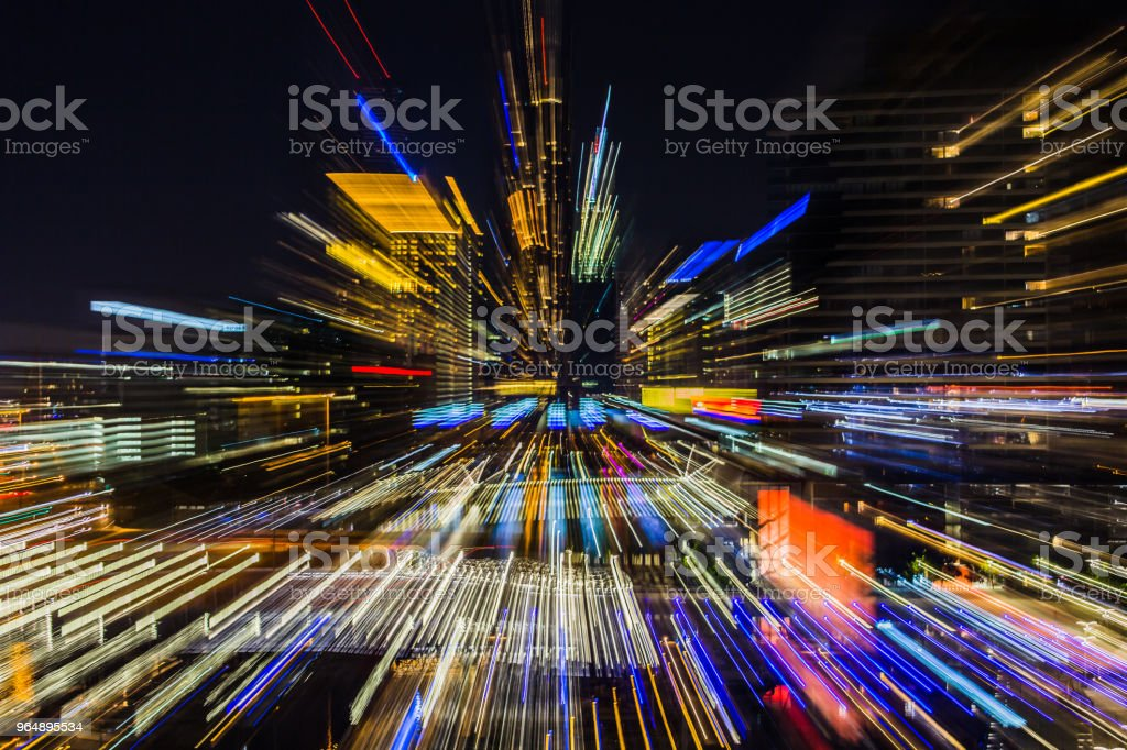 Melbourne City At Night, Australia royalty-free stock photo