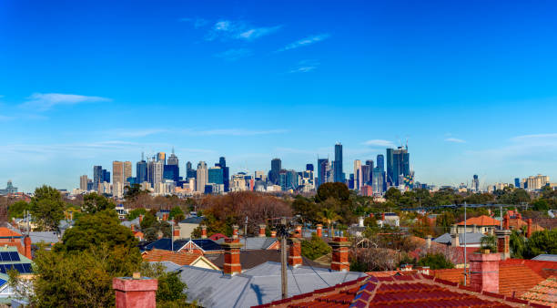 Melbourne City Skyline stock photo