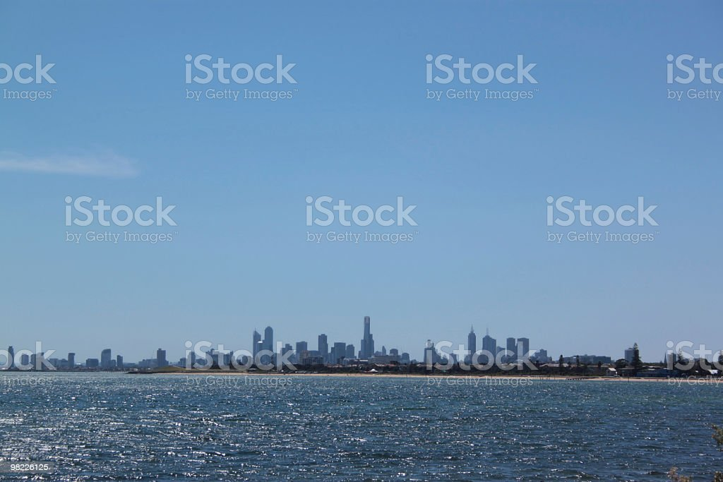 Melbourne city skyline royalty-free stock photo