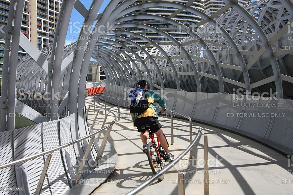 Melbourne cyclist royalty-free stock photo