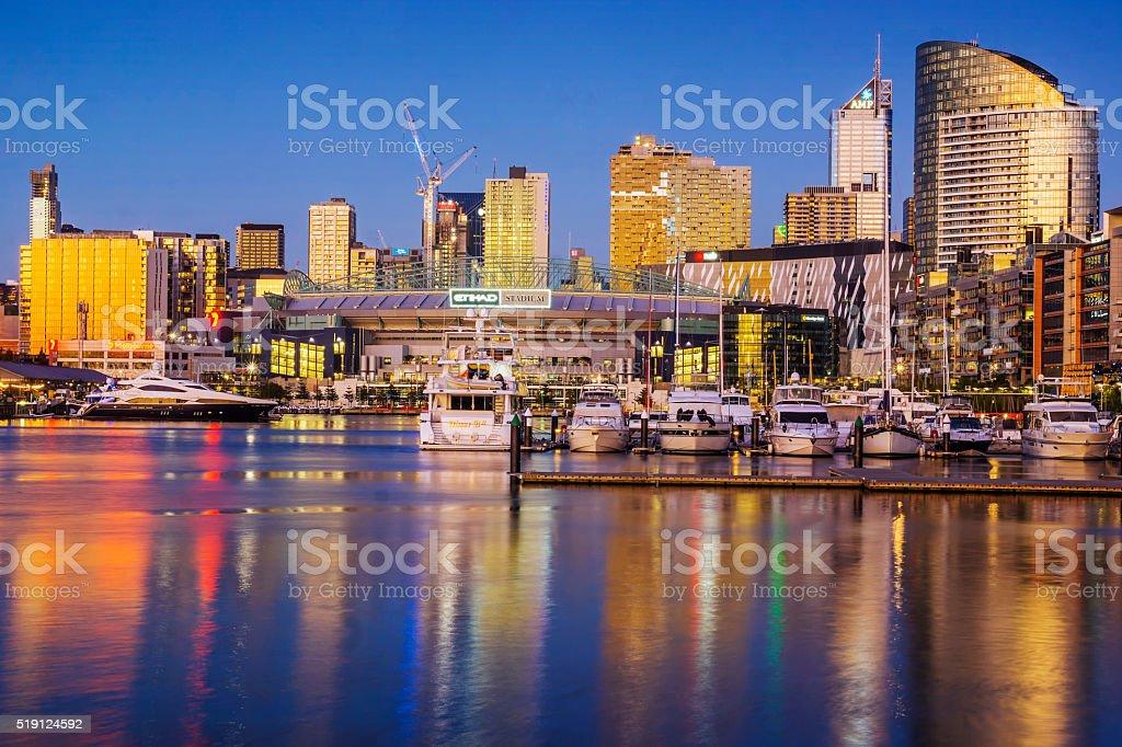 Melbourne Docklands stock photo