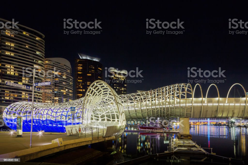 Melbourne, Docklands, Webb Bridge, Victoria, Australia royalty-free stock photo