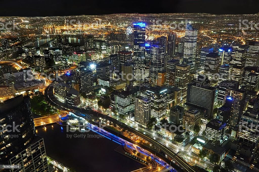 Melbourne from above stock photo
