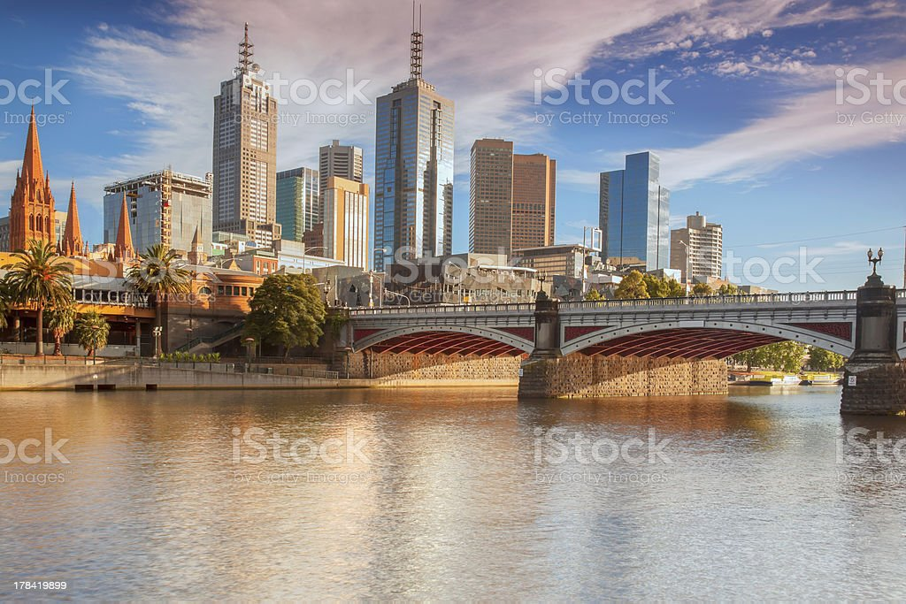 Melbourne from Southbank stock photo