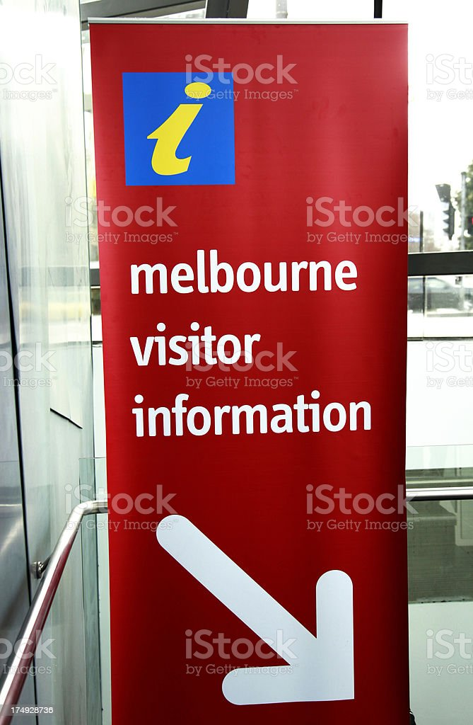 Melbourne Information Sign royalty-free stock photo