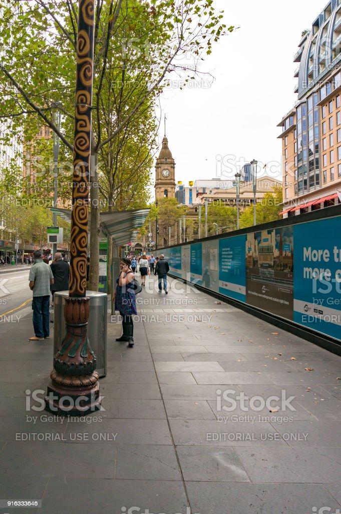 Melbourne infrastructure development advertising stock photo