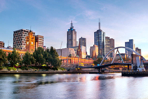 Melbourne Morning stock photo