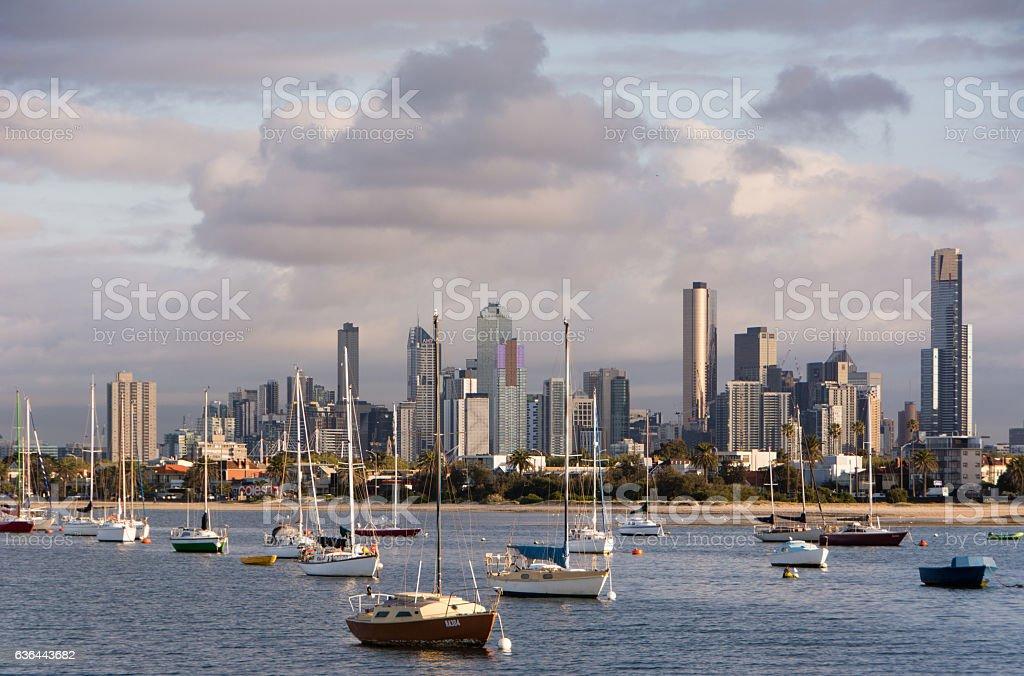 Melbourne Morning stock photo