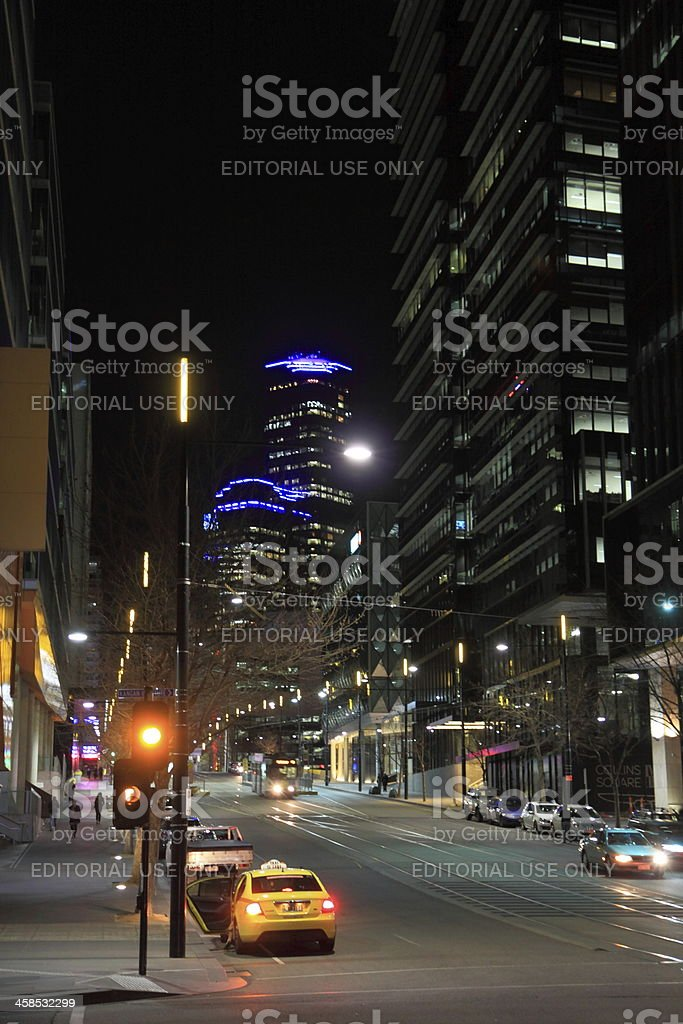 Melbourne night Docklands royalty-free stock photo