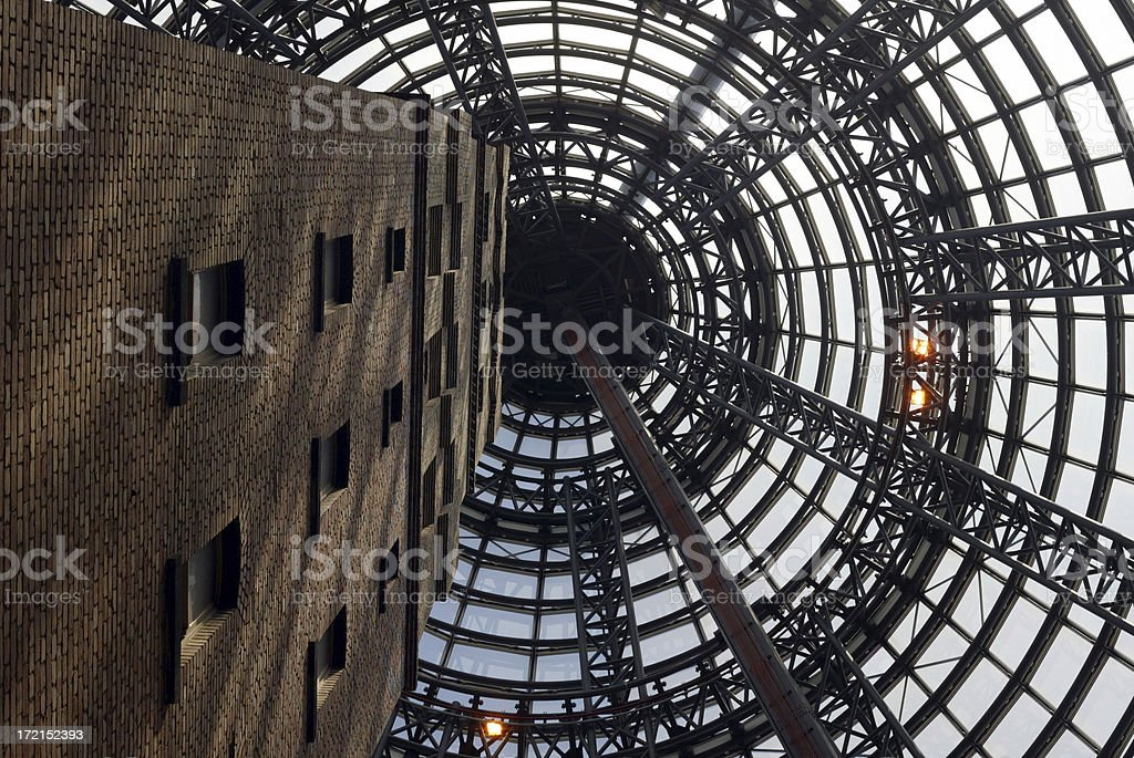 Melbourne Office in Glass Cone royalty-free stock photo