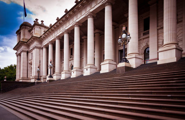 Melbourne Parliament House stock photo