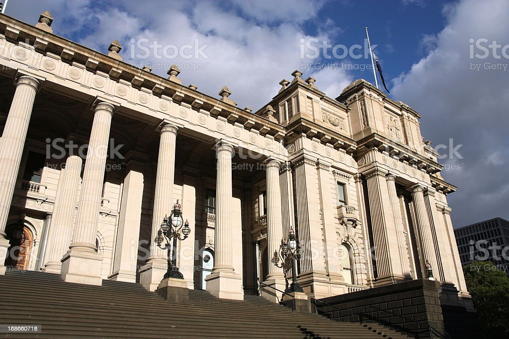 Melbourne - Parliament of Victoria royalty-free stock photo