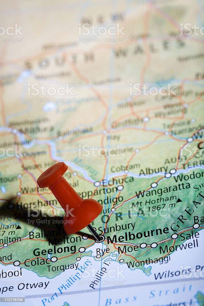 Melbourne Pin Vert royalty-free stock photo