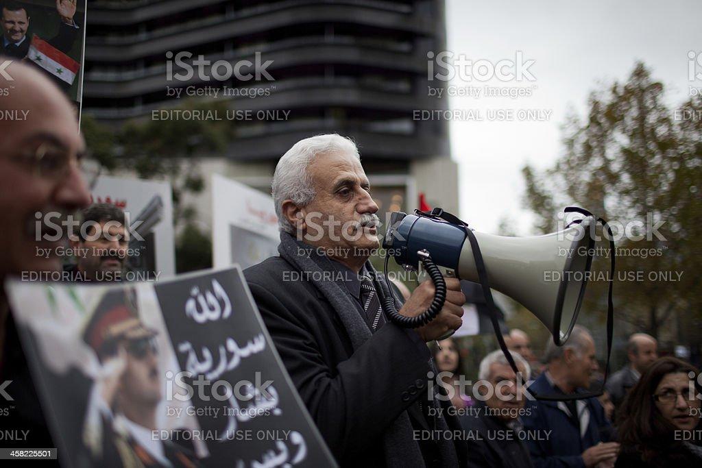 Melbourne Prostest for Syria royalty-free stock photo