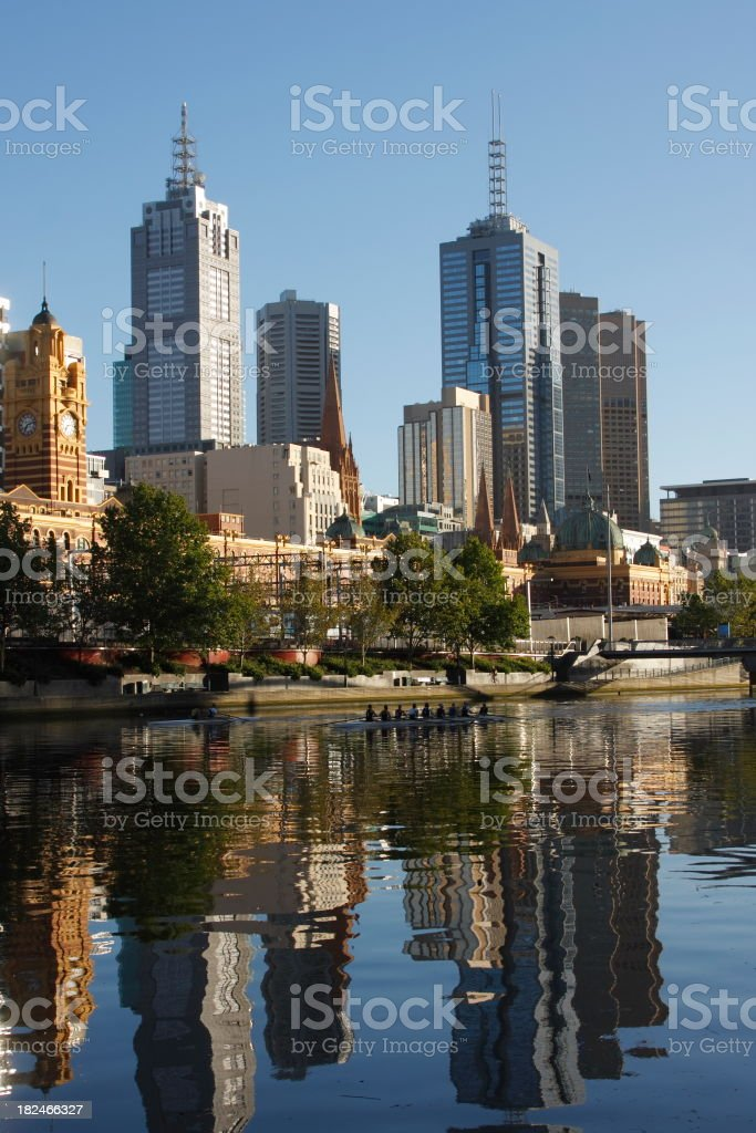 Melbourne Reflections royalty-free stock photo