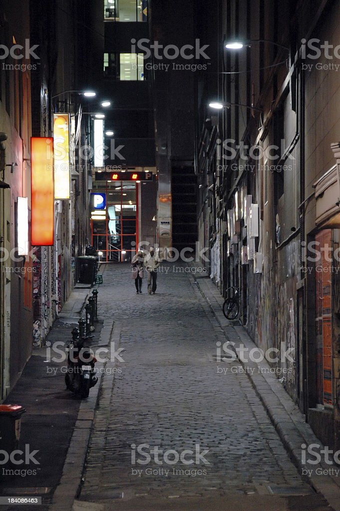 Melbourne side street royalty-free stock photo